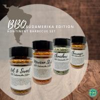 BBQ Südamerika Edition (4 Streuer) - Weltreise Barbecue Set