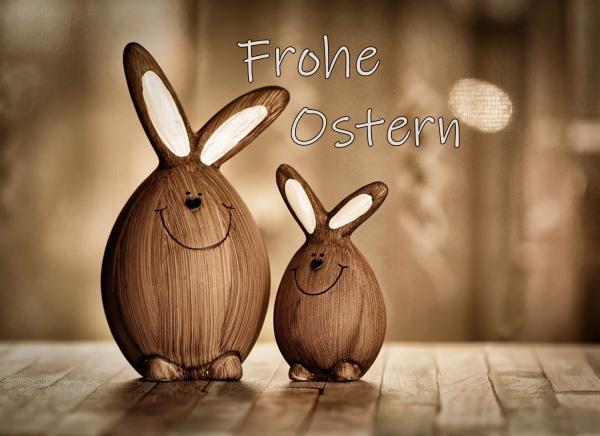 Frohe Ostern PDF Gutschein zum ausdrucken oder verschicken