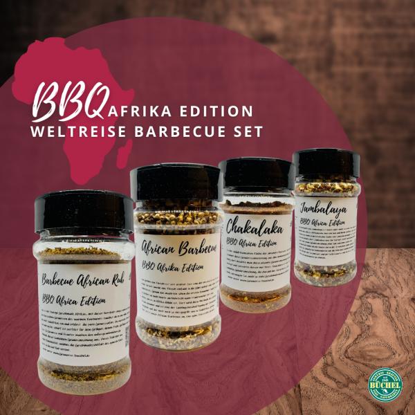 BBQ Afrika Edition (4 Streuer) - Weltreise Barbecue Set