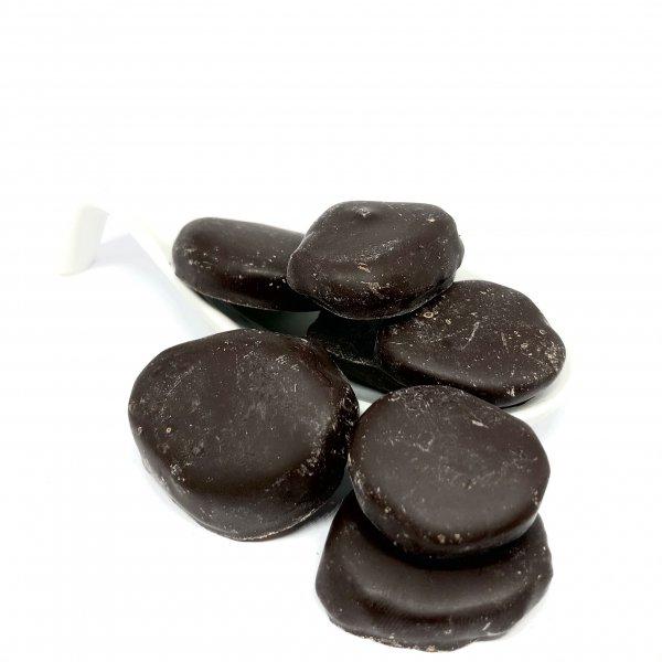 Ingwer Blätter mit Pralinen Zartbitter Schokolade
