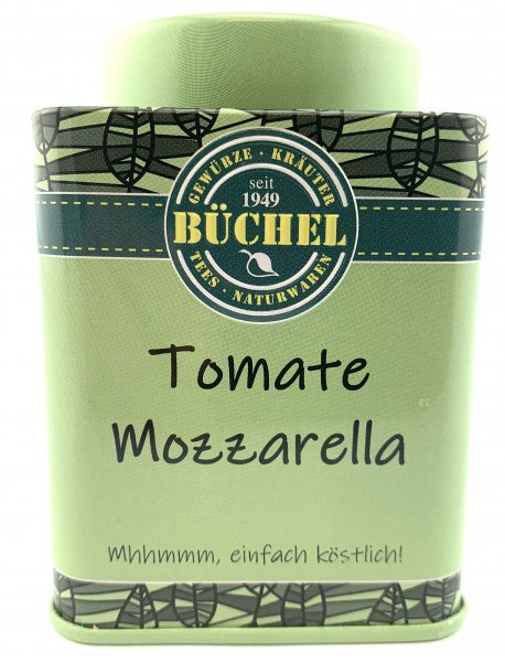 Mozzarella-Tomaten Gewürz in der Büchel Dose