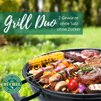 Grill Duo klassische Marinaden ohne Salz und ohne Zucker
