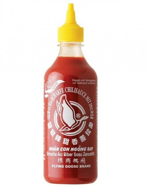 SRIRACHA CHILISAUCE FLYING GOOSE INGWER