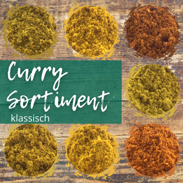 Curry Probierset 7 Sorten Gewürzmischung
