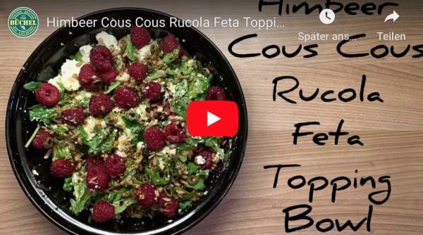 Himbeer-Cous-Cous-Rucola-Feta-Topping-Bowl