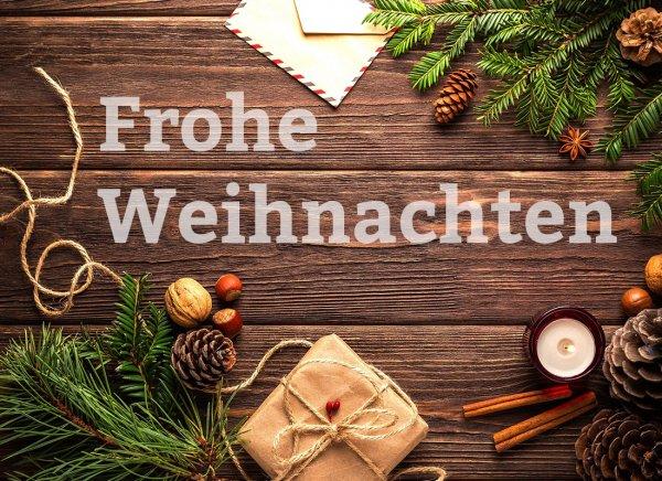 Frohe Weihnacht PDF Gutschein zum ausdrucken oder verschicken
